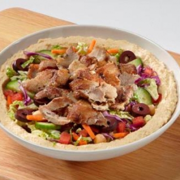 Chicken Shawarma Hummus Bowl