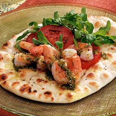 Balti Shrimp Naan Flatbread
